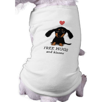 Cute Dachshund Puppy with Heart and Text T-Shirt