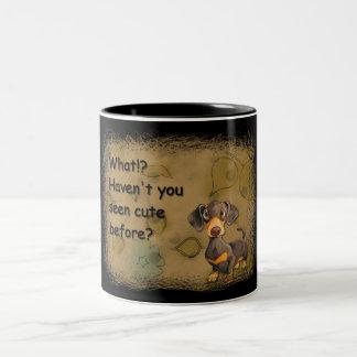 cute dachshund ringer mug