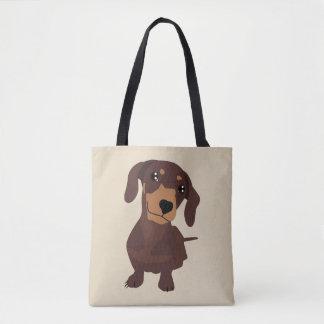 Cute dachshund sausage dog totes bag
