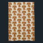 "Cute Dachshunds Pattern Hand Towel<br><div class=""desc"">Wiener Dog Lover&#39;s Kitchen Towel</div>"