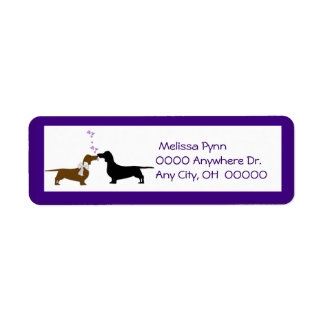 Cute Dachshunds Return Address Label