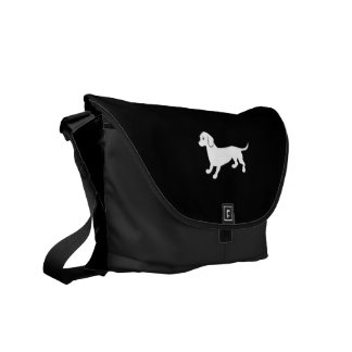 Cute Dachsund Drawing Courier Bags