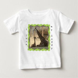 "Cute Dad & Baby Giraffe ""i love my daddy"" shirt"