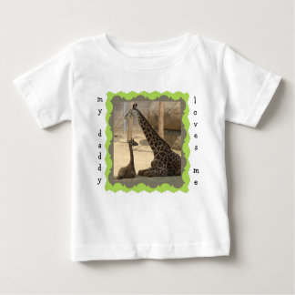 "Cute Dad & Baby Giraffe ""my daddy loves me"" shirt"