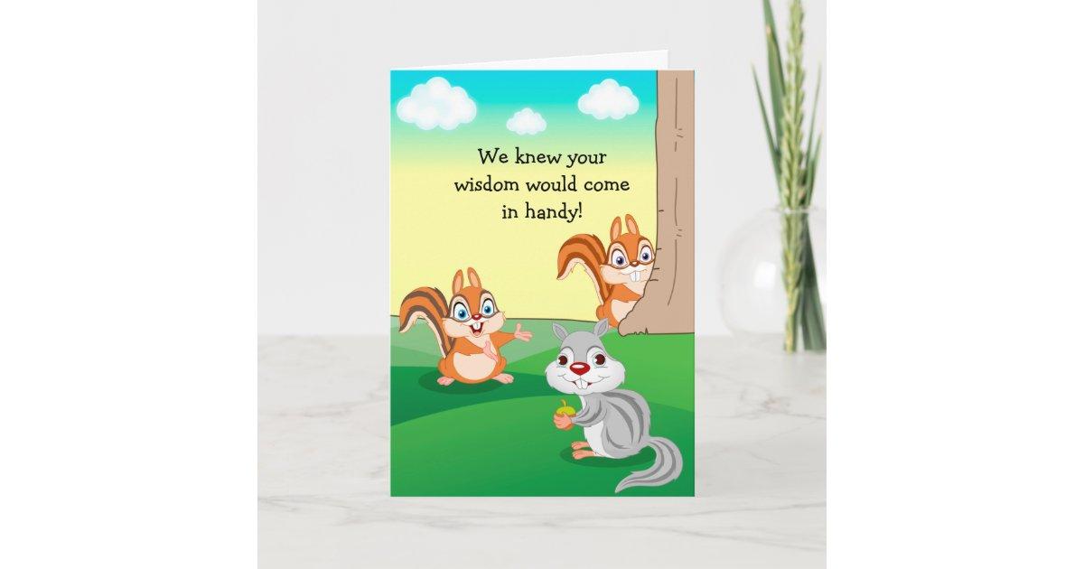 Cute Dad Birthday Card Smart Squirrel Card Zazzle Com