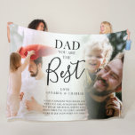 Cute 'DAD' you are the Best  Photos Name & Quote Fleece Blanket