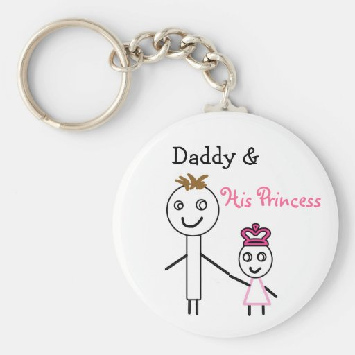 cute Daddy &, His Princess stick figure keychain