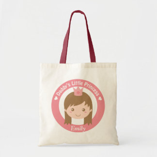 Cute Daddy Little Princess with Tiara Girls Tote
