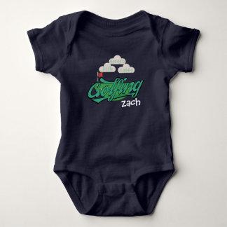 Cute Daddy's Little Caddie Green Golfing Baby Baby Bodysuit