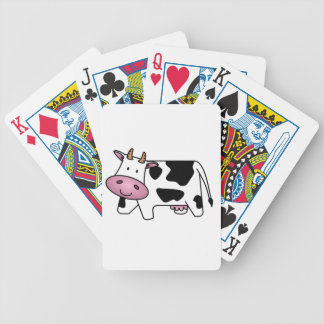 Cute Dairy Cow Bicycle Playing Cards