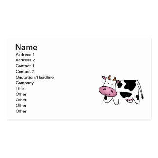 Cute Dairy Cow Double-Sided Standard Business Cards (Pack Of 100)