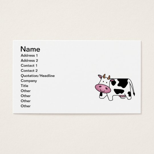Cute Dairy Cow Business Card