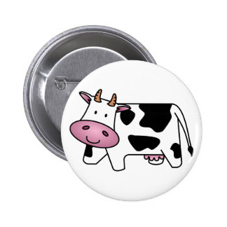 Cute Dairy Cow 2 Inch Round Button