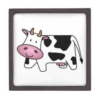 Cute Dairy Cow Keepsake Box