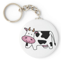 Cute Dairy Cow Keychain