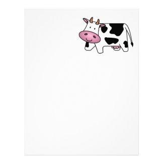 Cute Dairy Cow Letterhead