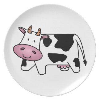 Cute Dairy Cow Plate