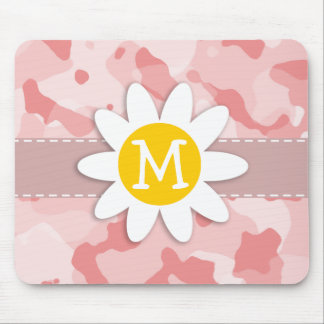 Cute Daisy; Baby Pink Camo; Camouflage Mouse Pad
