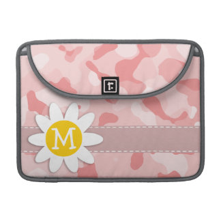Cute Daisy; Baby Pink Camo; Camouflage Sleeve For MacBook Pro