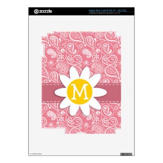 Cute Daisy; Blush Pink Paisley; Floral Decal For iPad 3