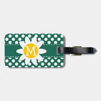 Cute Daisy Bottle Green Polka Dots Tag For Luggage