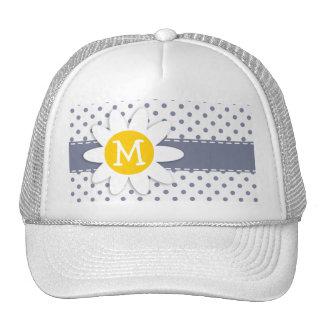 Cute Daisy; Cool Grey Polka Dots Trucker Hat