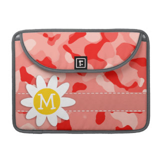 Cute Daisy; Coral Pink Camo; Camouflage MacBook Pro Sleeve