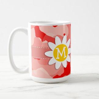 Cute Daisy; Coral Pink Camo; Camouflage Coffee Mugs