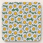 Cute Daisy Flower Pattern Beverage Coasters