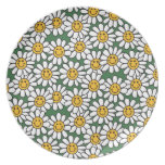 Cute Daisy Flower Pattern Party Plates