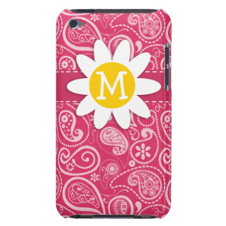 Cute Daisy on Cerise Paisley Floral iPod Touch Cover