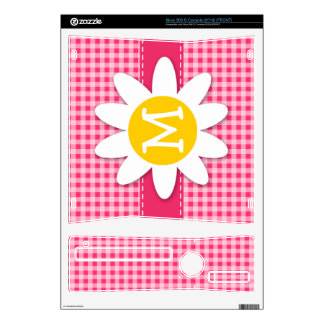 Cute Daisy on Hot Pink Gingham Decals For Xbox 360 S