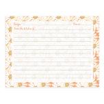 Cute Daisy Recipe Cards Post Cards