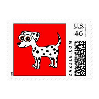 Cute Dalmatian Cartoon Postage Stamps