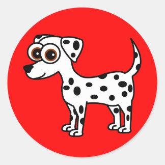 Cute Dalmatian Cartoon Stickers