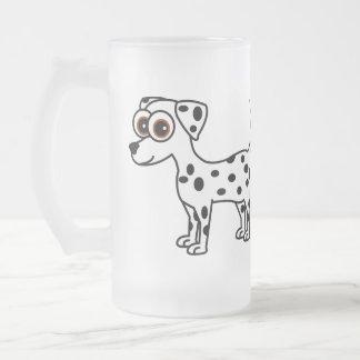 Cute Dalmatian Cartoon Tall Frosted Mug