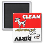 Cute Dalmatian Clean / Dirty Dishwasher Magnet