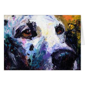 Cute Dalmatian Dog Portrait Greeting Card