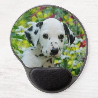 Cute Dalmatian Dog Puppy Portrait, ergonomic Gel Mouse Pad