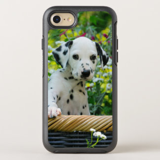 Cute Dalmatian Dog Puppy Portrait Phoneprotection OtterBox Symmetry iPhone 7 Case