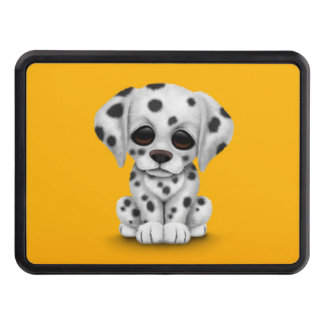 Cute Dalmatian Puppy Dog on Yellow Hitch Cover