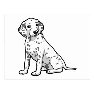 Cute Dalmatian Puppy Postcard