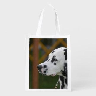 Cute Dalmatian Puppy Reusable Grocery Bags
