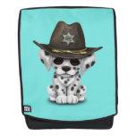 Cute Dalmatian Puppy Sheriff Backpack