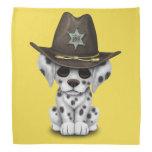 Cute Dalmatian Puppy Sheriff Bandana