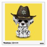 Cute Dalmatian Puppy Sheriff Wall Sticker