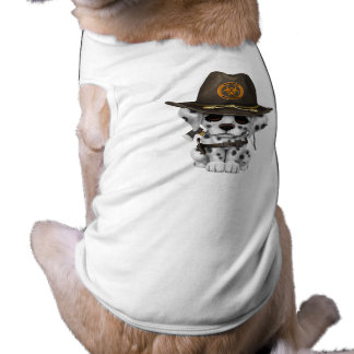 Cute Dalmatian Puppy Zombie Hunter Tee
