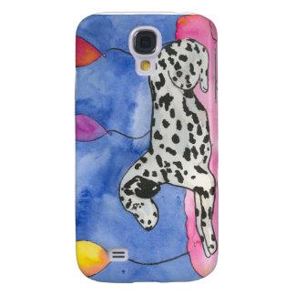 Cute Dalmatin on a cloud Galaxy S4 Case
