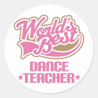 Cute Dance Teacher Classic Round Sticker
