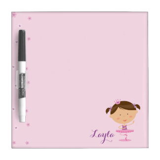 Cute Dancer Ballerina Girl Dry Erase Board